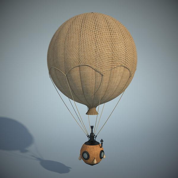 3ds balloon steampunk