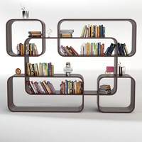 3d bookshelf 50 books