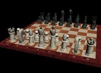 3d chessmen