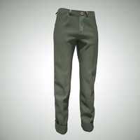 green jeans 3d model