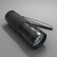 flashlight light led 3d max