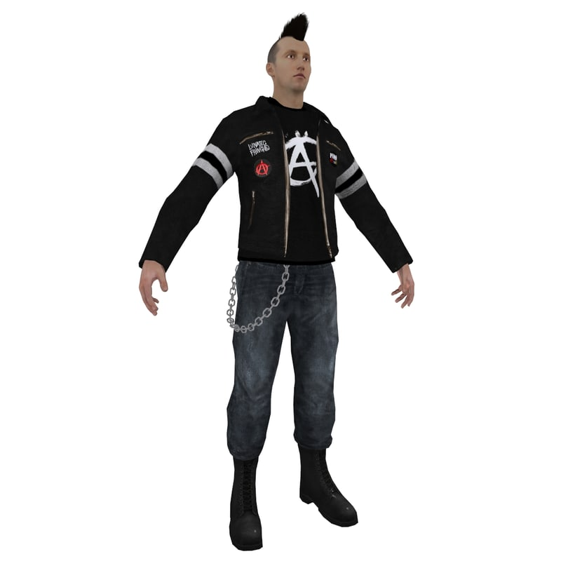 punker punk 3d max