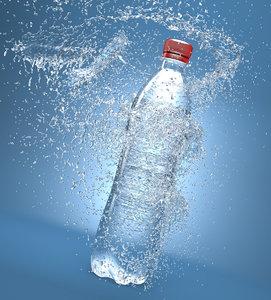 bottle splash 3d max
