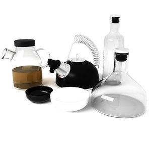 design kitchen accessories 3d model