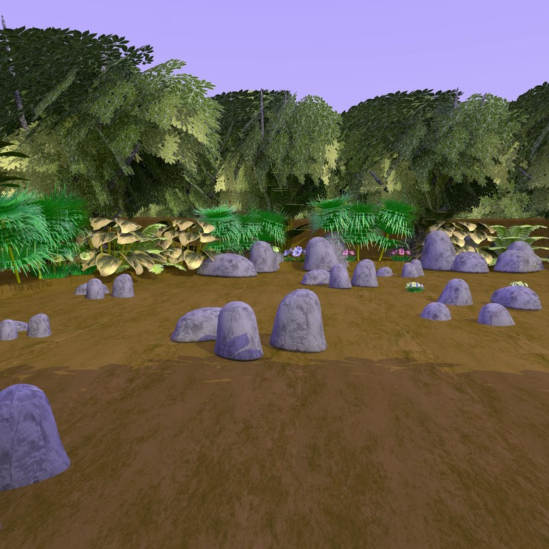 realistic forest trees 3d 3ds