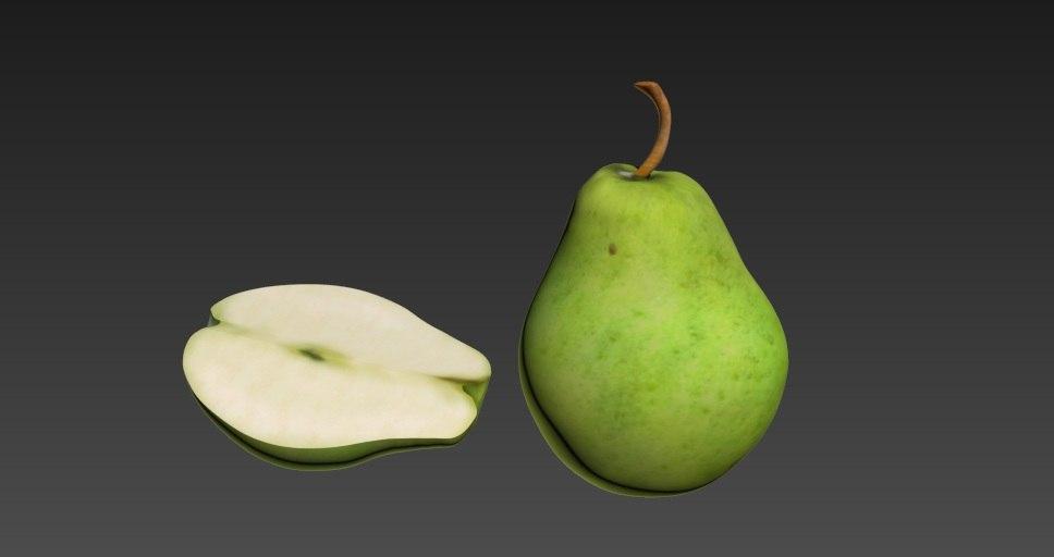 3d model pear