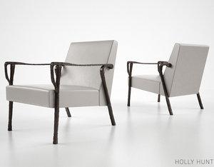 holly hunt dublin lounge chair 3d fbx
