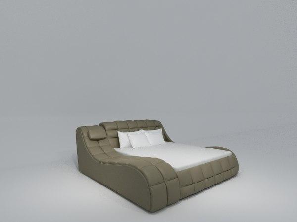 3d model of bed divan