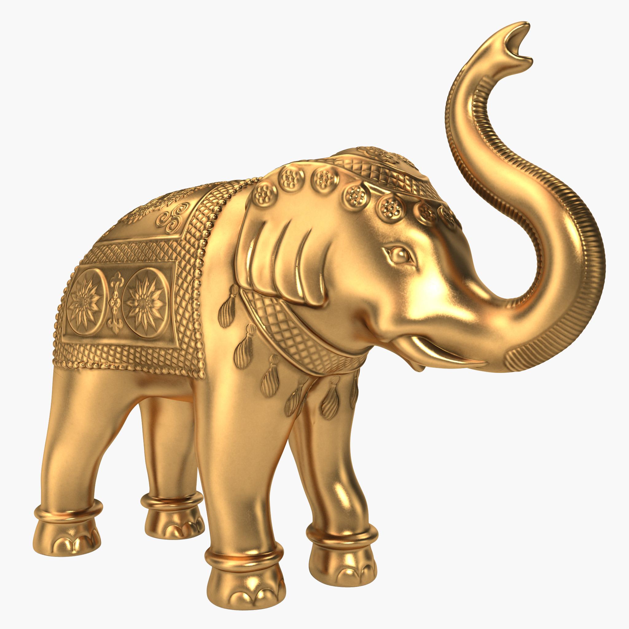 3d brass elephant statue. Black Bedroom Furniture Sets. Home Design Ideas