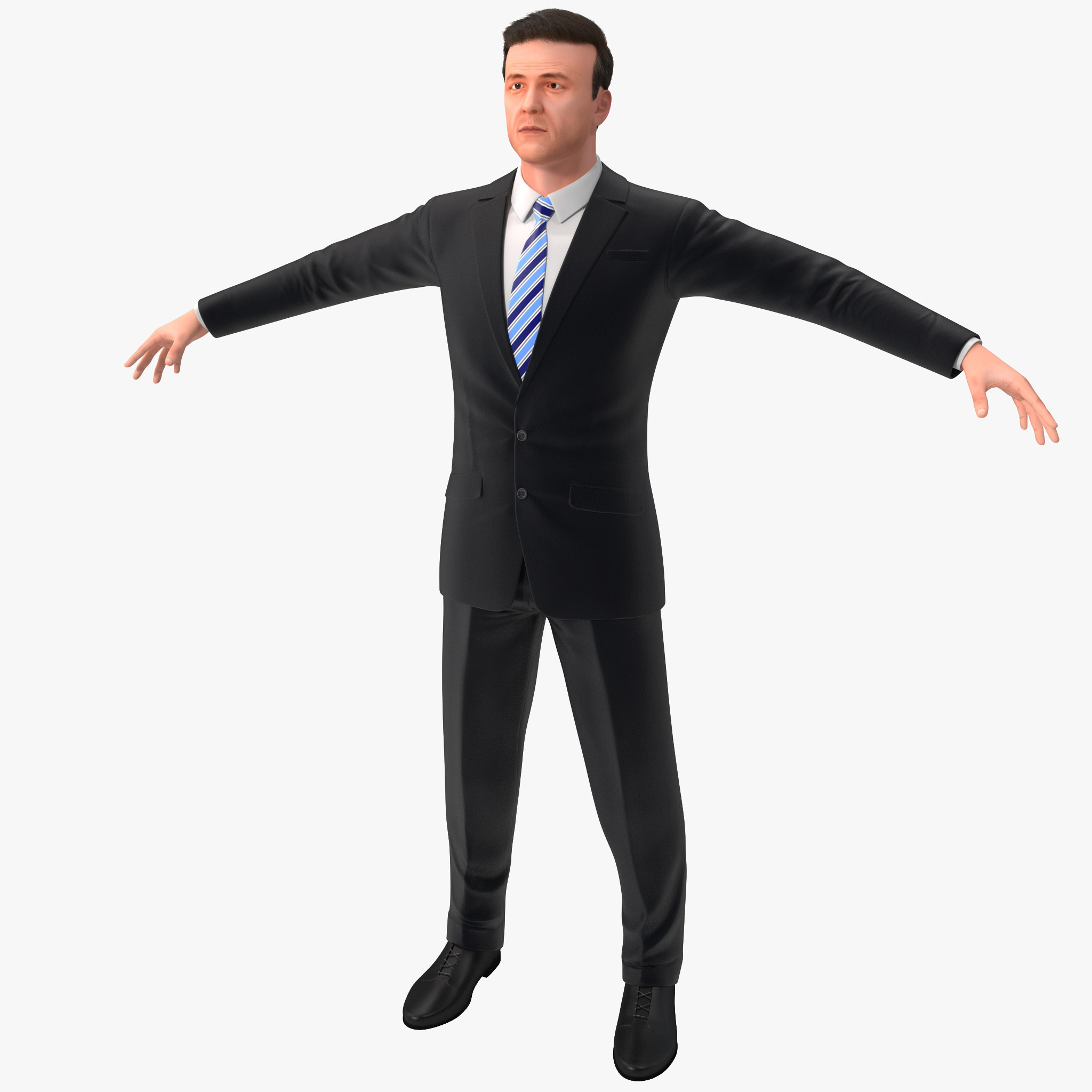 3d businessman 5 version 2 model