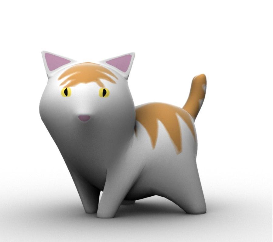 3d model cat cartoon