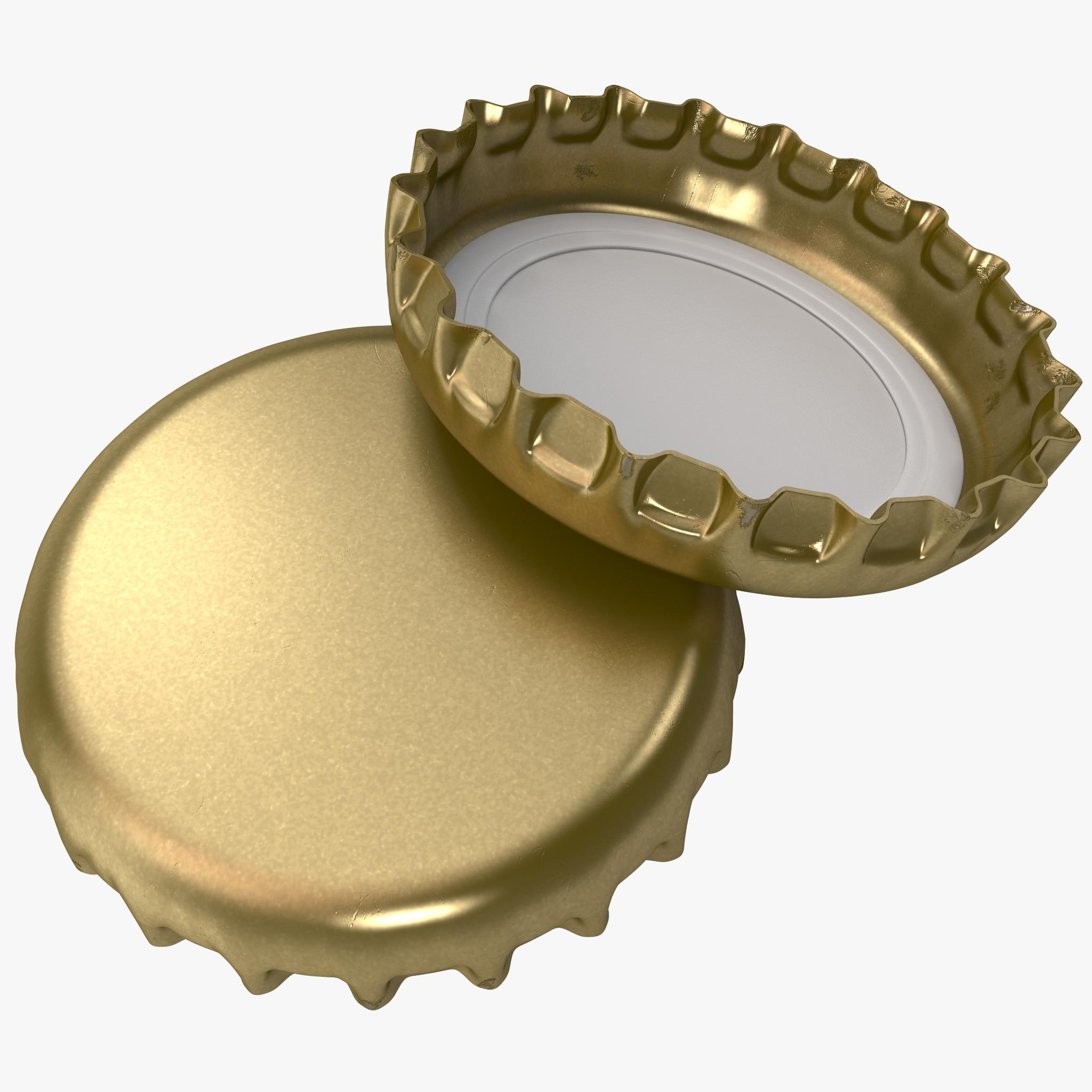 crown cork bottle cap 3d model