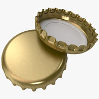 crown cork bottle cap 3d model