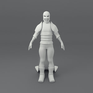 3d warrior male model
