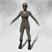 3d female mercenary