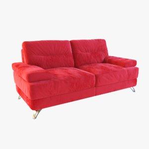 3d model nova 2-seat sofa