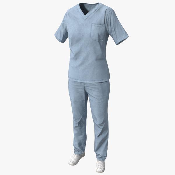 3d nurse uniform model