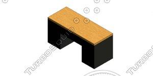 free office desk revit 2012 3d model