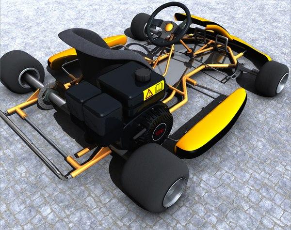 c4d racing kart