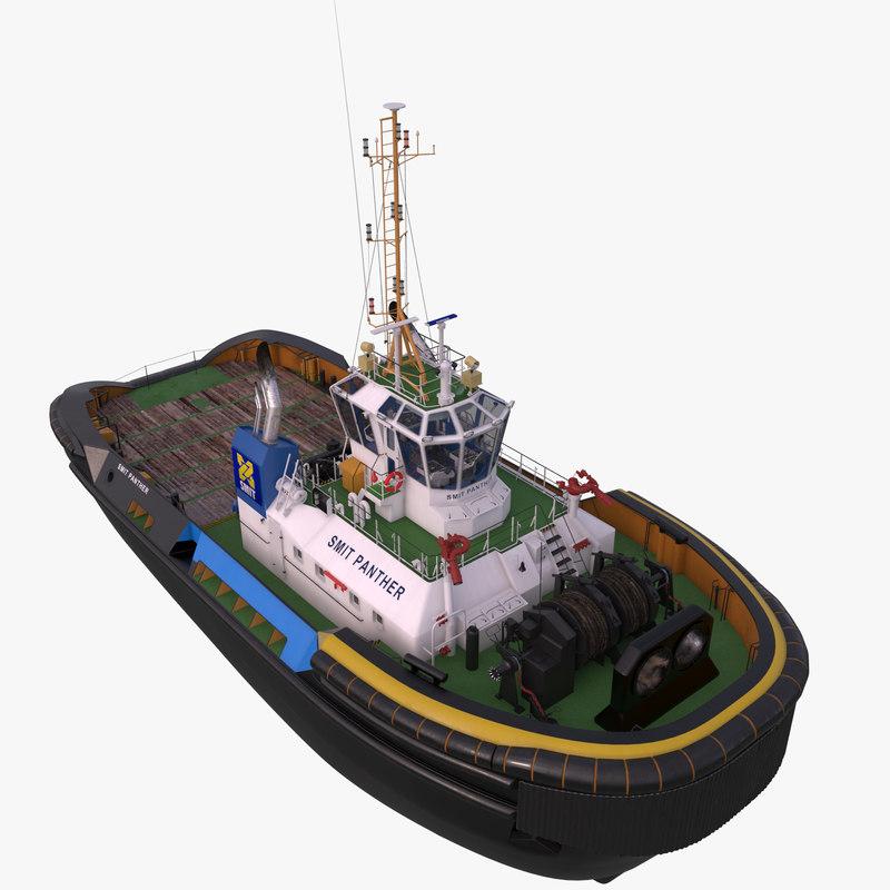 3d c4d tugboat tug smit