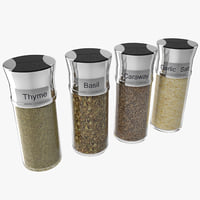 Spice Bottles Set 4