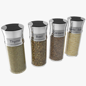 3d spice bottles set 4