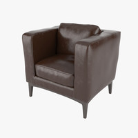 armchair realistic 3d