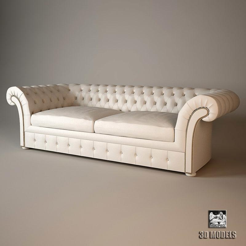 baxter casper sofa 3d max