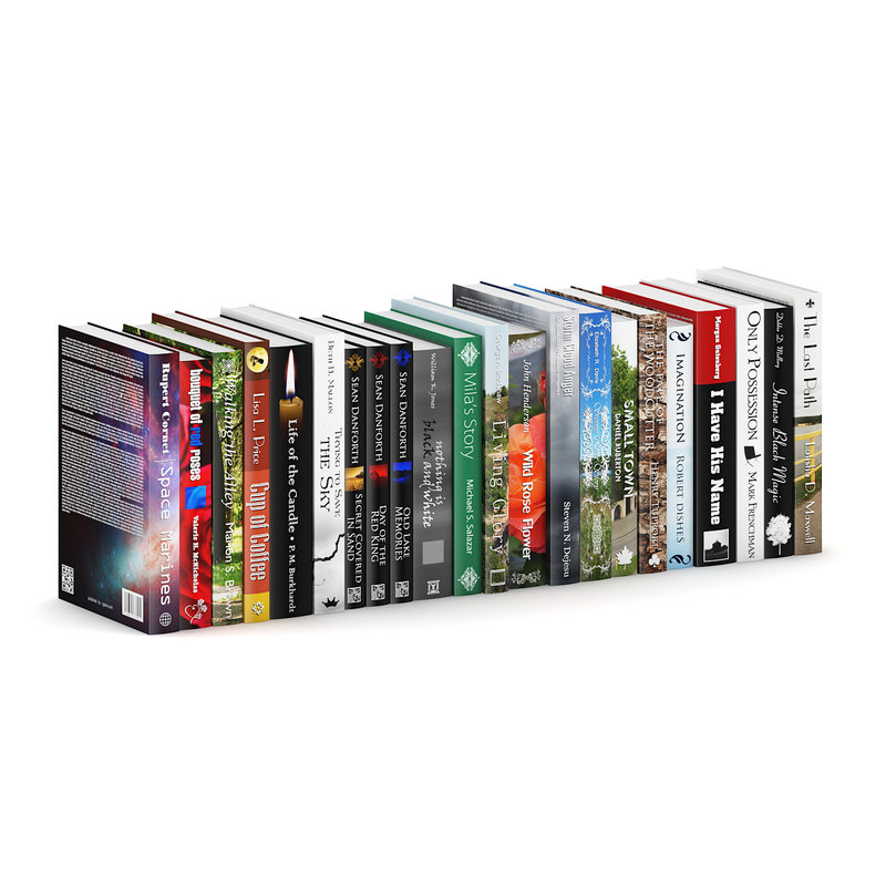 hardcover novel books 3d obj