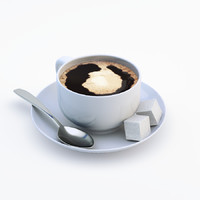 realistic cup coffee 3d 3ds