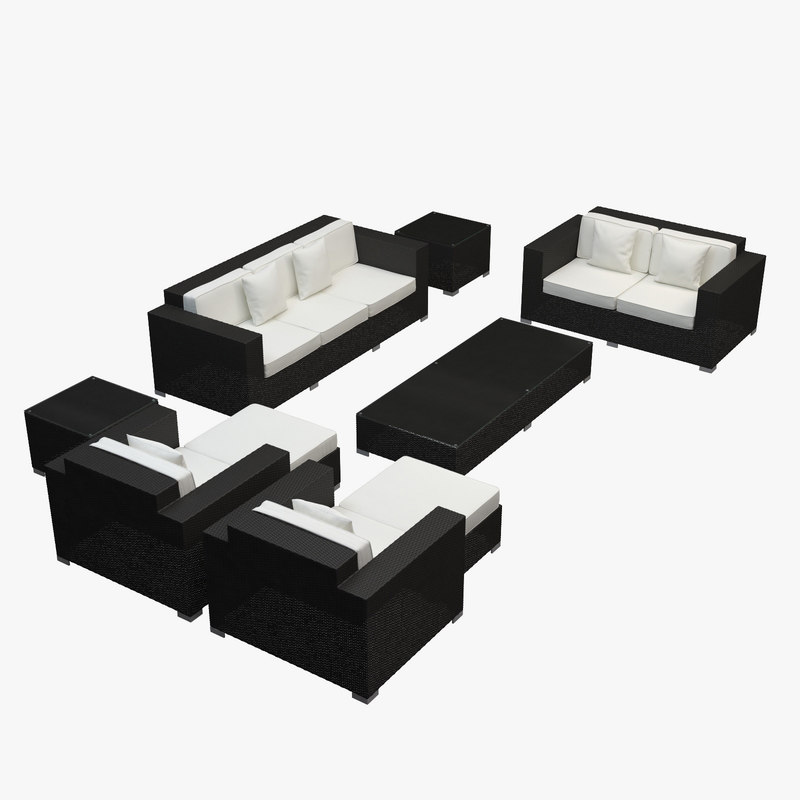 3d furniture synthetic rattan