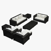 Garden furniture - Synthetic rattan sofa, loveseat, armchair, ottoman, coffee table