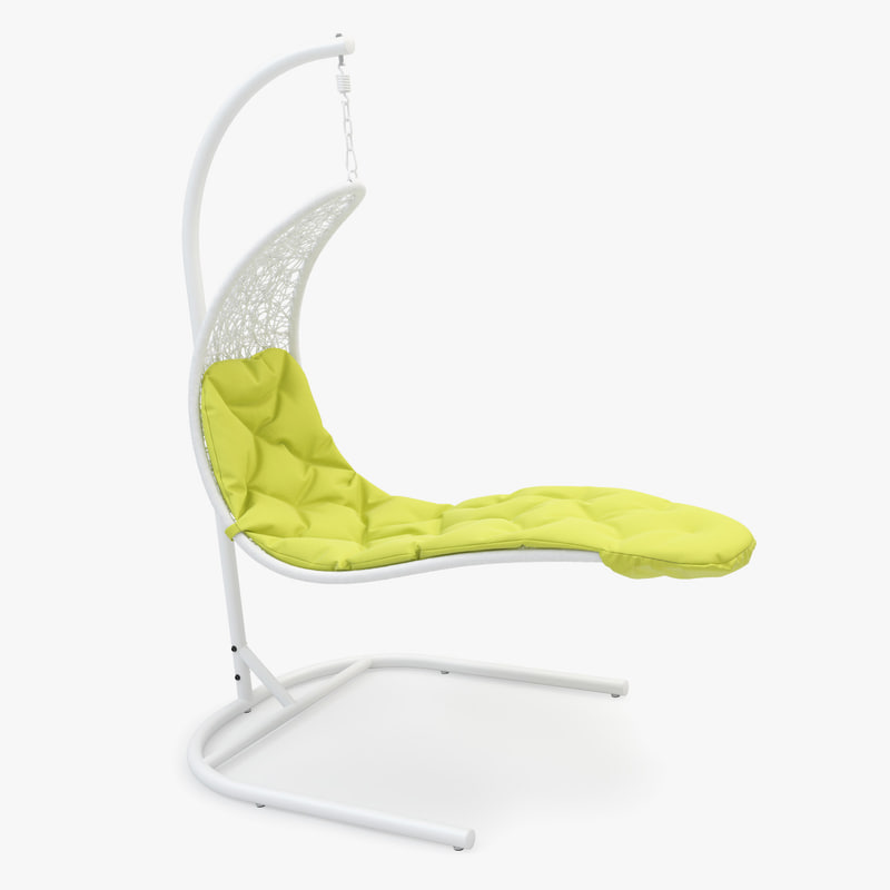 lounge swing rattan chair obj