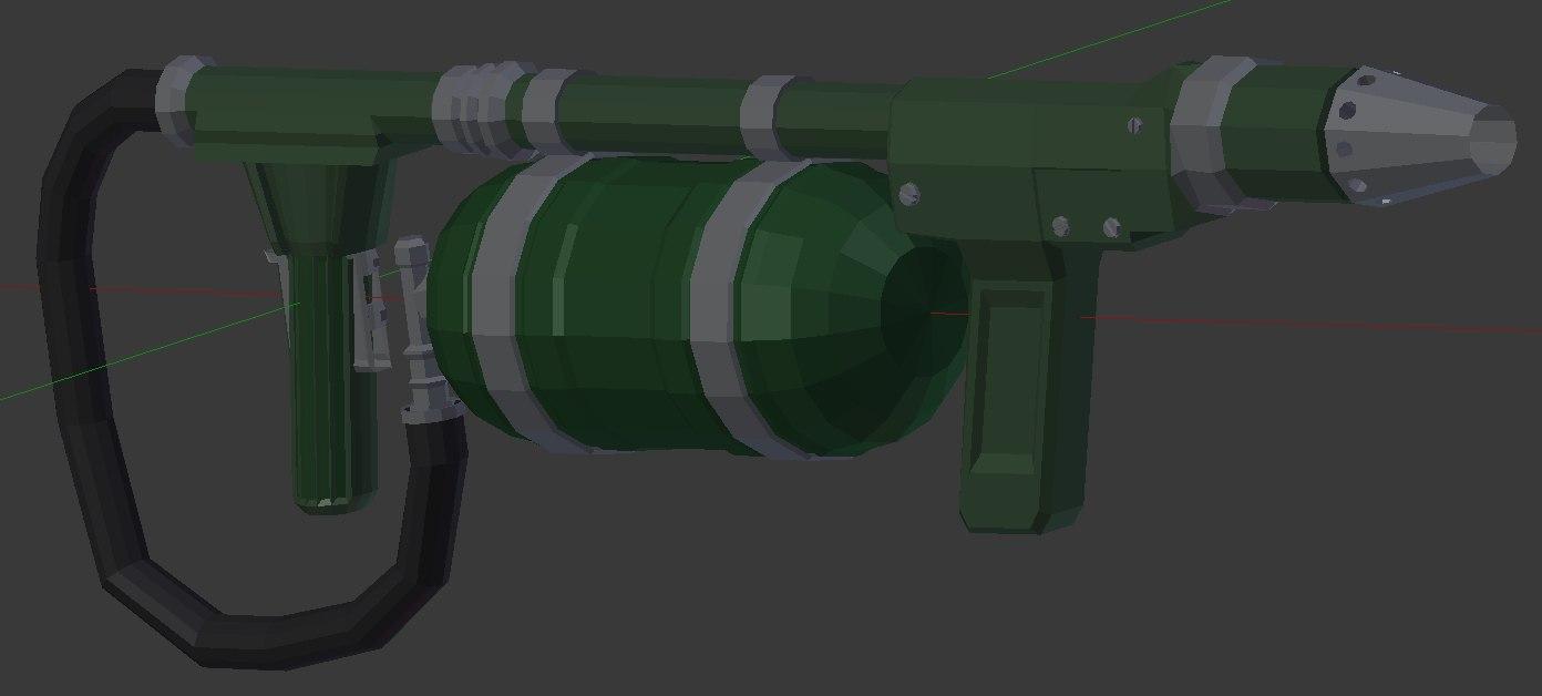 modern flame thrower 3d blend
