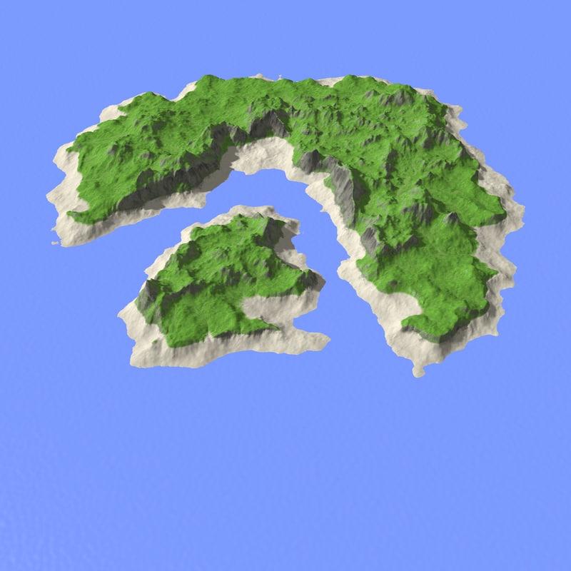 landscape island 3d x