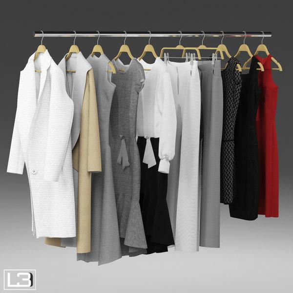 3d woman clothes hangers model