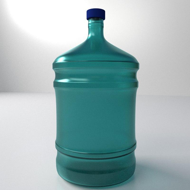 3d model water dispenser bottle