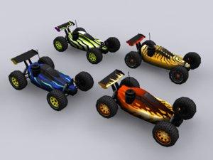 3d model nitro rc car