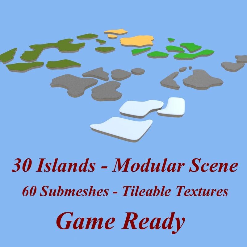 3ds island platform land