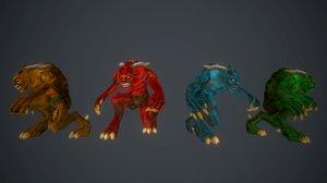 3d model demon minions
