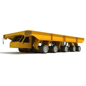 3d model shipyard transporter vehicle