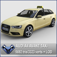 2013 audi a4 avant 3d model