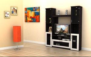 3dm contemporary wall unit