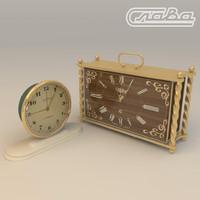 old sssr clock slava 3d model