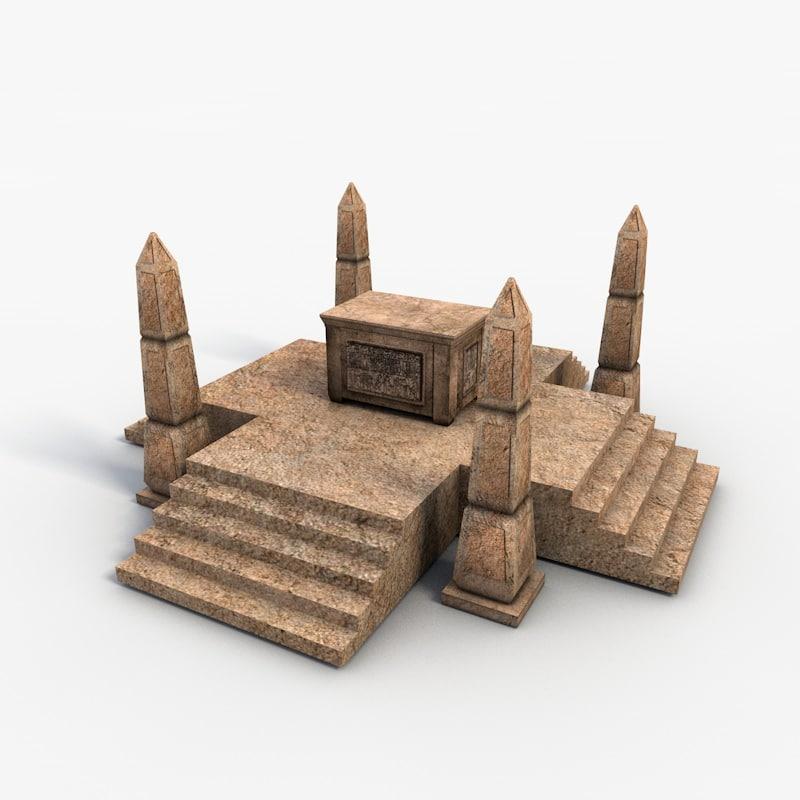 egyptian box obelisk 3ds