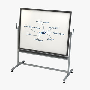 whiteboard seo 3d model