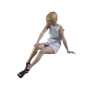 3ds max human woman girl