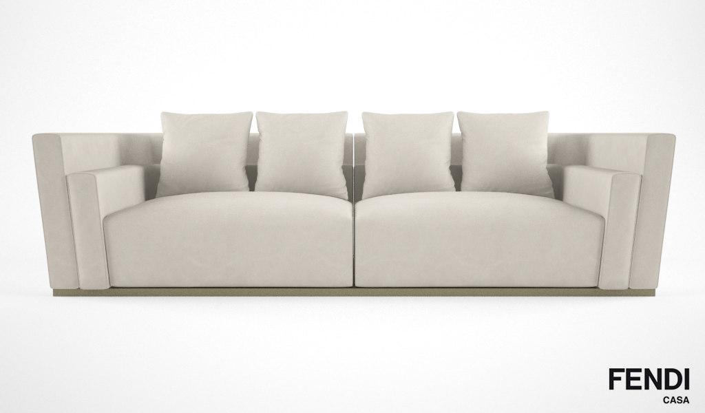 b46e2a0d8432 Sofa Fendi 3D Models for Download