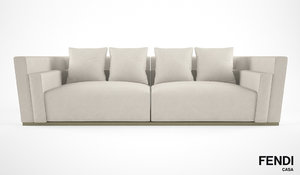 3d model fendi casa borromini sofa