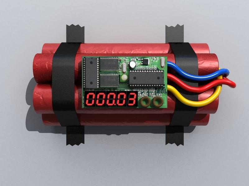 time bomb 3d max